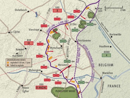 Battle of Messines map