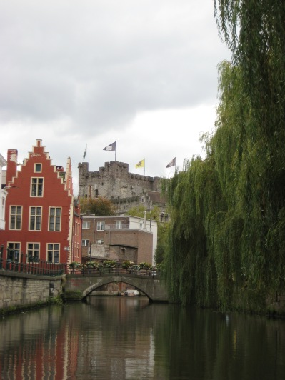 Ghent canals with castle