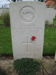 An unknown NZ soldier, Messines Ridge British Cemetery