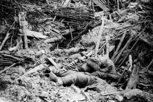 The human carnage after the mines explosion Messines Ridge
