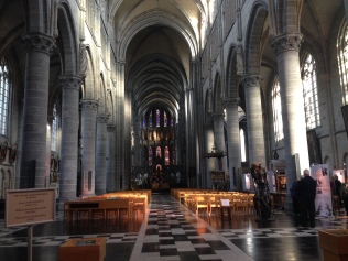 Today inside St. Martins Cathedral, Ypres