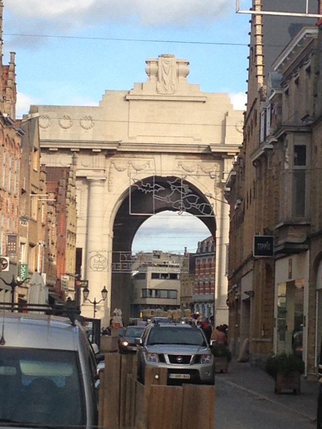 Menin Gate as seen from inside the town, Ypres