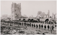 ANZACs departing Ypres via the Menin exit, WWI