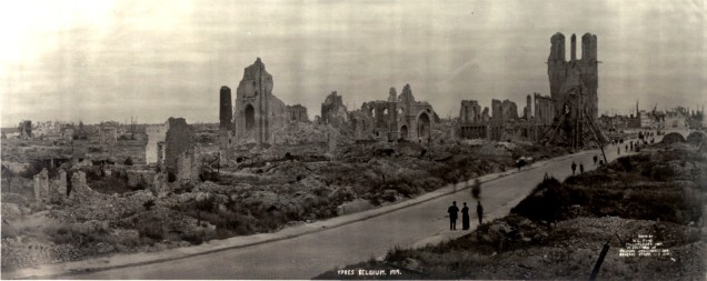The ruins of Ypres in 1919