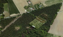 Polygon Wood and Cemeteries from the air.
