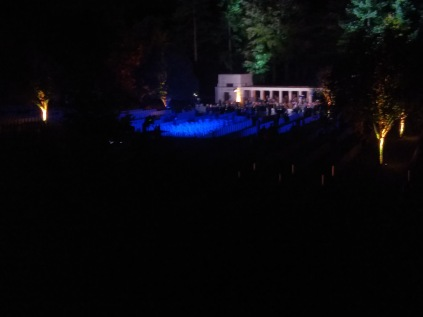 Evening ceremony, Buttes New British Cemetery, Polygon Wood