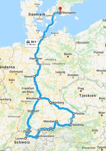 Roadtrip 2018 map