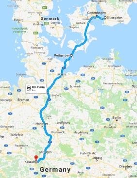 Map Malmö to Kassel