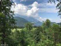 View from Berghof ruins today