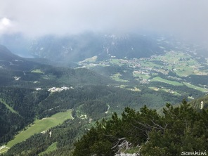 Eagles nest view with Königsee left
