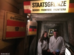 Dave & Steph sneaking across the border into Germany illegally