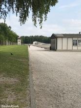 Dachau Concentration Camp - barracks, no mans land & guard tower