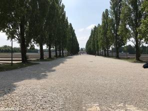 Dachau Concentration Camp - Main street