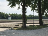 Dachau Concentration Camp - Barracks foundations & guard tower