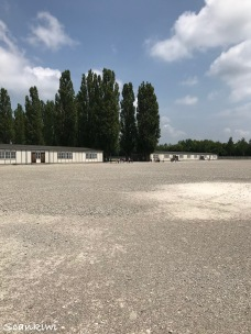 Dachau Concentration Camp - reubilt barracks with Blocks A & B were