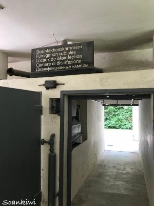 Barrack X - Decontamination chamber exit