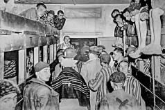 Prisoners in Barracks; Lineration 1945