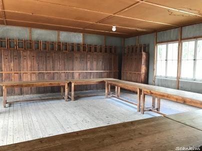 Dachau barracks - dining room & lockers