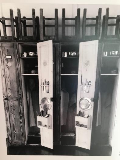 Dachau barracks - dining room lockers 1940