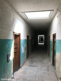 Corridor for prisoners being punished, The Bunker, Dachau