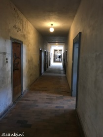 Corridor for the privledged prisoners, The Bunker, Dachau