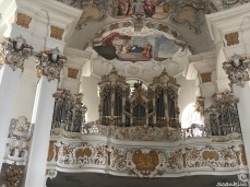 Rocco interior & organ Wieskirche