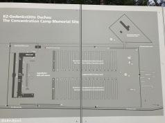 Map of barracks at Dachau Memorial Barracks