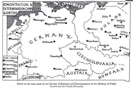 Map of Dachau sub-camps