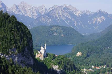 Neuschwanstein & Hohenschwangau Castles - summer