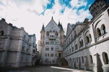 Neuschwanstein Castle - inner courtyard
