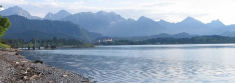 Forggensee, Füssen in the background
