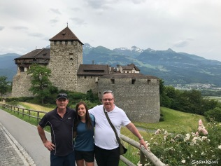 The crew in Vaduz, Liechtenstein