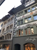 "Lüftlmalerei"" or facade frescoes; Lucerne, Switzerland"