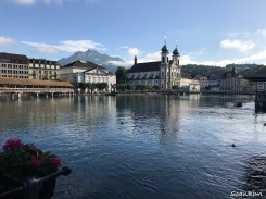 River Reuss & Jesuit Church, Lucerne, Switzerland