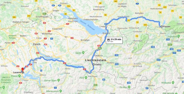 Füssen to Lucerne