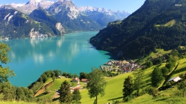Alpine view of Lake Lucerne & Alps
