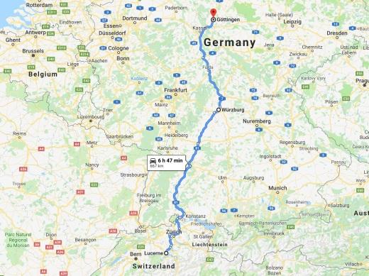 Lucerne to Göttingen