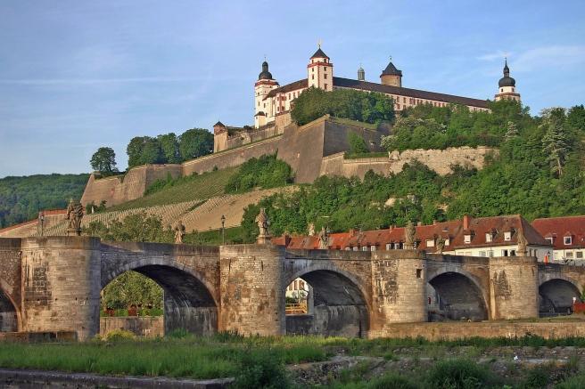 Marienberg Fortress and Alte Mainbrücke bridge, Würzburg