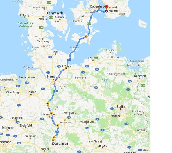 Göttingen to Malmö