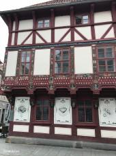 Original cross timber houses