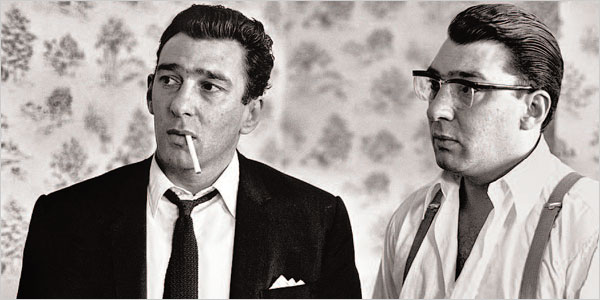 Kray twins - Reggie (right) & Ronnie (left)