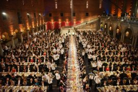 Nobel banquet, Blue Hall, Stockholm Town Hall