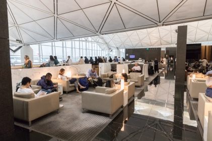 Hong Kong Cathay Pacific Business Lounge - The Wing