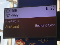 CX199 Hong Kong to Auckland
