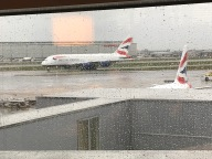 View from London Heathrow Cathay Business Class Lounge Terminal 3