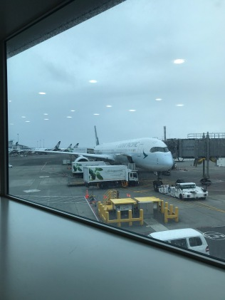 Finally arrived, Auckland Airport (Cathay Pacific Airbus A350)