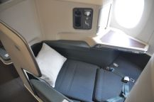 Cathay Pacific Business Class (stool converted to a bed)