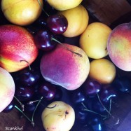 Apricots, peaches & cherries